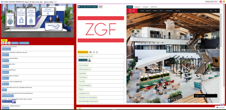Screenshot of Demo page